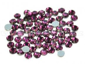 hot-fix skleněné nažehlovací kameny na textil barva 121 Amethyst tmavý velikost SS6 až SS16