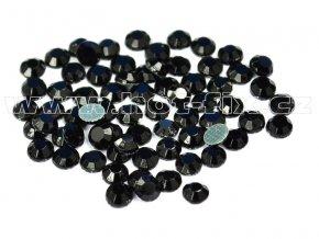 hot-fix skleněné nažehlovací kameny na textil barva 124 Jet, velikost SS6 až SS30