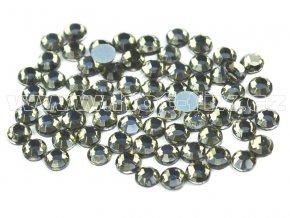 hot-fix skleněné nažehlovací kameny na textil barva 126 Black diamond, velikost SS6 až SS20