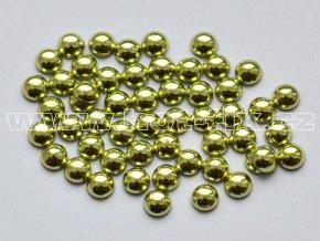 nažehlovací hot-fix perly na textil barva SA306 peridot, velikost 2, 3, 4 nebo 5mm, balení 100ks