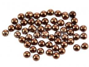 nažehlovací hot-fix perly na textil barva SA307 hnědá, velikost 2, 3, 4 nebo 5mm, balení 100ks