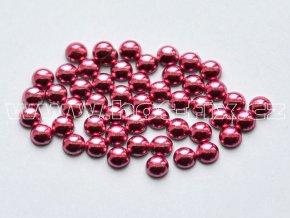 nažehlovací hot-fix perly na textil barva SA315 růžová, velikost 2, 3, 4 a 5mm, balení 100ks