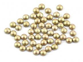 nažehlovací hot-fix perly na textil barva SA342 béžová mat, vel. 2, 3, 4 nebo 5mm, balení 100ks
