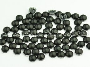 nažehlovací hot-fix perly na textil barva SA344 černá mat, vel. 2, 3, 4 a 5mm, balení 100ks