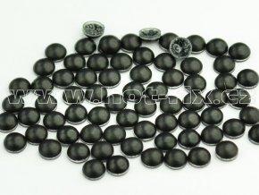 nažehlovací hot-fix perly na textil barva SA344 černá mat, vel. 2, 3, 4 nebo 5mm, balení 100ks