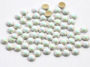 nažehlovací hot-fix perly na textil barva SR01 perleť cream, velikost 2, 3, 4 nebo 5mm, balení 100ks