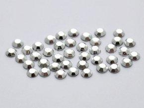 octagon barva 01 stříbrná - hot-fix nažehlovací kamínky na textil, velikost 2, 3, 4, 5mm, balení 144ks