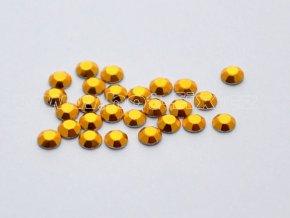 octagon barva 02 zlatá - hot-fix nažehlovací kamínky na textil, velikost 2, 3, 4, 5mm, balení 144ks