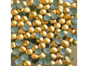 hot-fix kovové kameny na textil nažehlovací barva 02 zlatá mat, vel. 2, 3, 4, 5mm, balení 100ks a sada 4x100ks