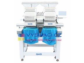 vyšívací stroj GMS-FT1502 průmyslový dvouhlavový 15-ti jehlový  + SLEVA 3.630,- Kč na vyšívací software