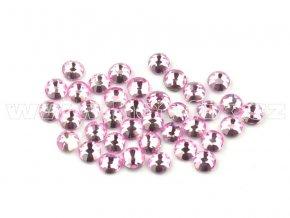 celobroušené hot-fix kameny Premium barva CBP 105 Rose světlý, velikost SS6 až SS30, balení 144ks