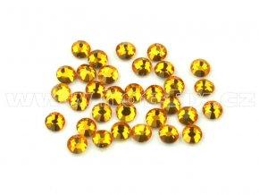 celobroušené hot-fix kameny Premium barva CBP 109 Topaz, velikost SS6 až SS30, balení 144ks