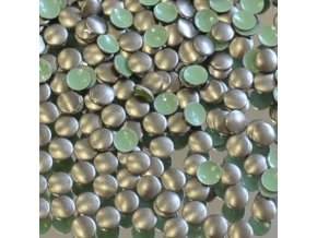 hot-fix kovové kameny na textil nažehlovací barva 10 bronz mat tmavý, vel. 2, 3, 4, 5mm, balení 100ks a sada 4x100ks