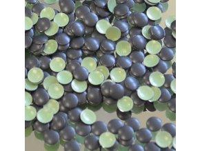 hot-fix kovové kameny na textil nažehlovací barva 31 černá mat, vel. 2, 3, 4, 5mm, balení 100ks a sada 4x100ks