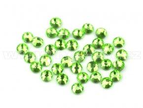 celobroušené hot-fix kameny Premium barva CBP 113 Peridot, velikost SS6 až SS30, balení 144ks