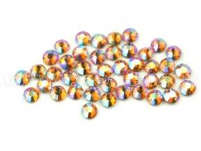celobroušené hot-fix kameny Premium barva CBP 509 AB Topaz, velikost SS6 až SS30, balení 144ks