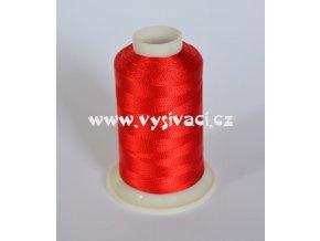 vyšívací nit červená ROYAL C038 návin 1000m viskóza  dočasně nahrazena nití Sulky 1319
