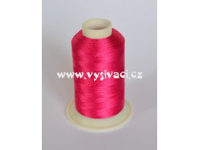vyšívací nit růžová fuchsia ROYAL C436 návin 1000m viskóza