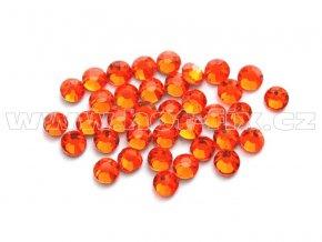 celobroušené hot-fix kameny Premium barva CBP 104 Orange, velikost SS6 až SS30, balení 144ks
