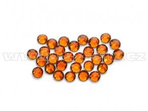 celobroušené hot-fix kameny Premium barva CBP 108 Topaz tmavý, velikost SS6 až SS30, balení 144ks