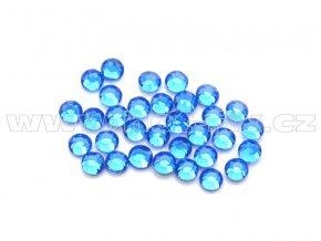 celobroušené hot-fix kameny Premium barva CBP 117 Sapphire, velikost SS6 až SS30, balení 144ks
