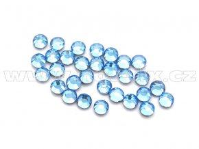 celobroušené hot-fix kameny Premium barva CBP 118 Sapphire světlý, velikost SS6 až SS30, balení 144ks