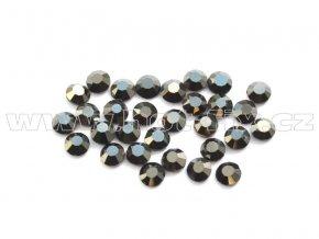celobroušené hot-fix kameny Premium barva CBP 125 Jet hematite, velikost SS6 až SS30, balení 144ks
