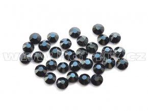 celobroušené hot-fix kameny Premium barva CBP 127 DK Jet hematite, velikost SS6 až SS30, balení 144ks