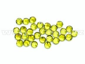 celobroušené hot-fix kameny Premium barva CBP 134 Olivín, velikost SS6 až SS30, balení 144ks