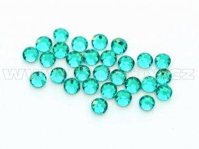celobroušené hot-fix kameny Premium barva CBP 140 Blue zircone, velikost SS6 až SS30, balení 144ks