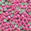 hot-fix kovové kameny na textil nažehlovací barva 12 růžová, vel. 2, 3, 4, 5mm, balení 100ks a sada 4x100ks