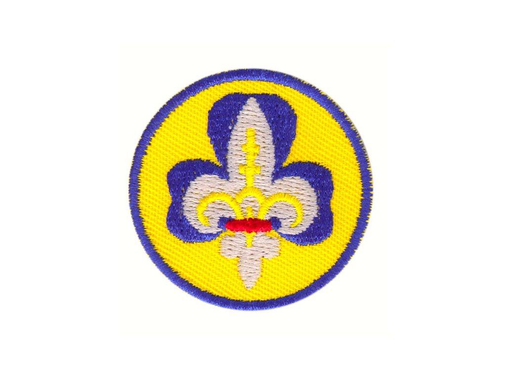 Nášivka - Skautská ľalia (žltý podklad)