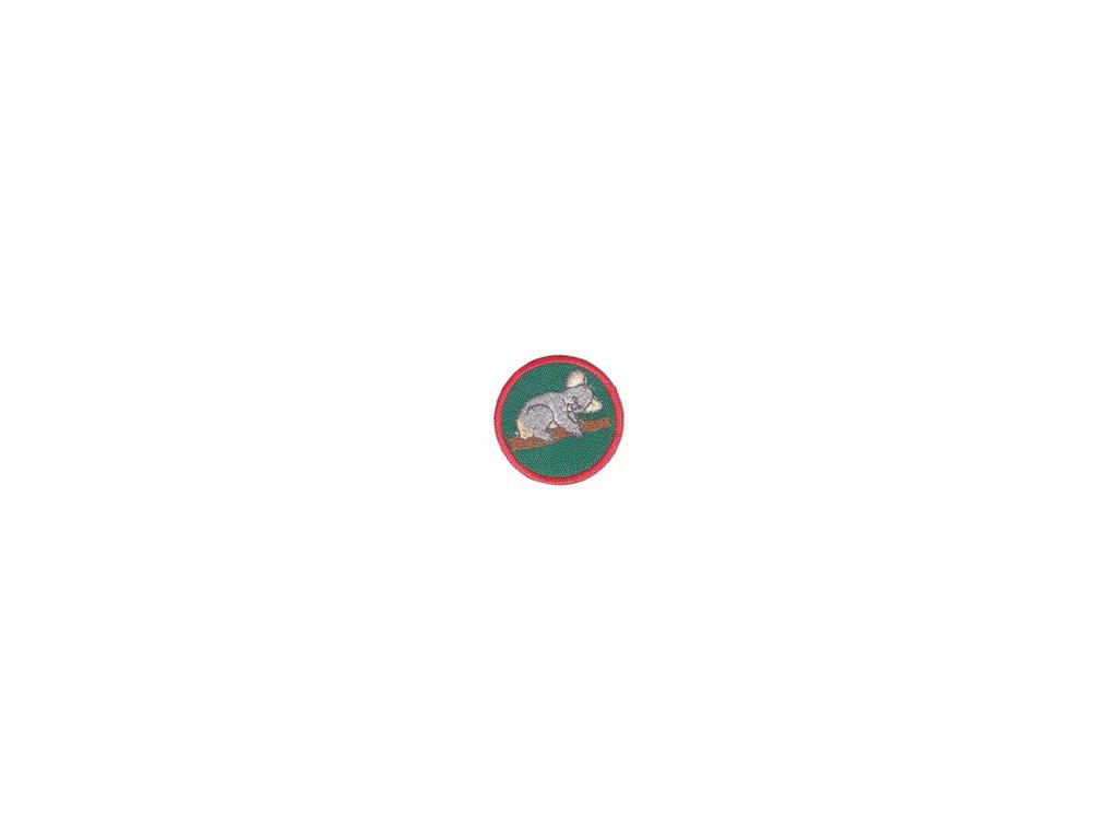Družinová nášivka - Koala (zelený podklad)