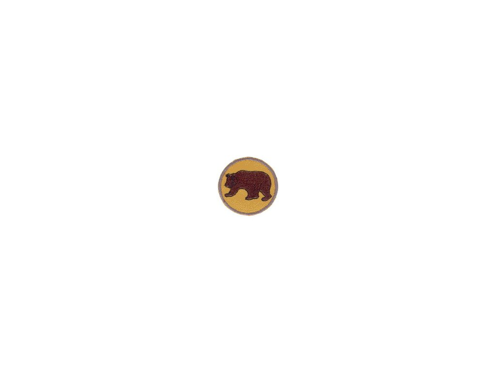 Družinová nášivka - Medveď hnedý
