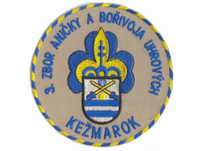 Zborová nášivka - 3. zbor Kežmarok