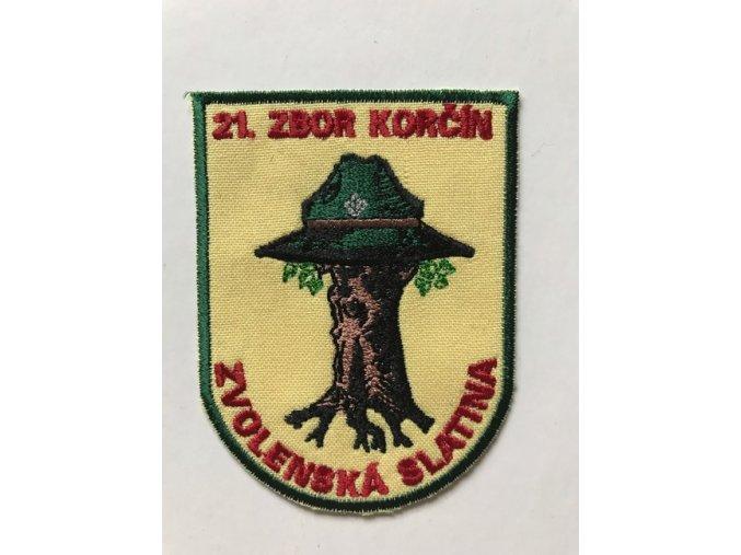 Zborová nášivka - 21. zbor Zvolenská Slatina