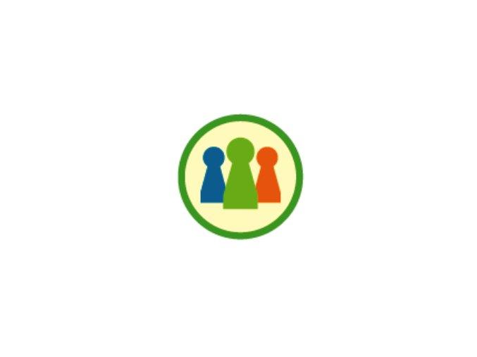 Nášivka Odborka Hráč spoločenských hier - zelený lem