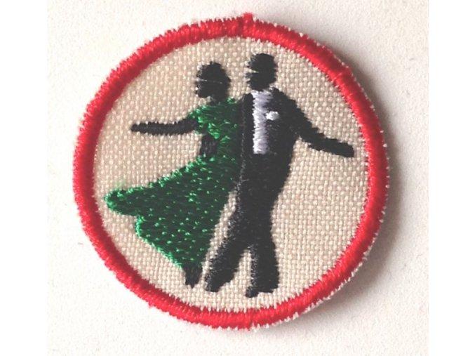 Nášivka Odborka Tanečník spoločenských tancov - červený stupeň