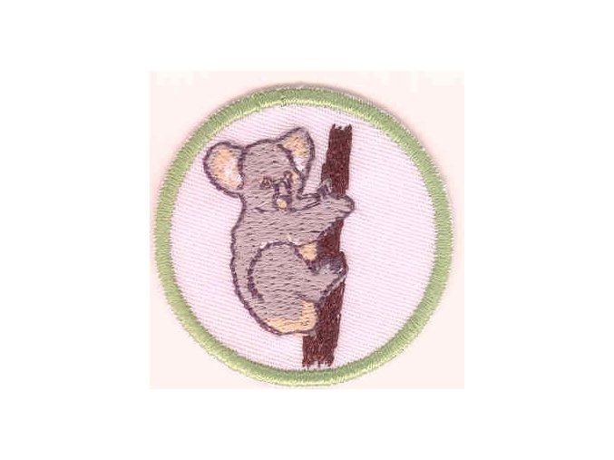 Družinová nášivka - Koala (biely podklad)