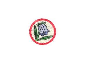 Nášivka Odborka Botanik - červený stupeň