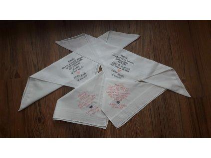 Svatební kapesníčky na slzy štěstí