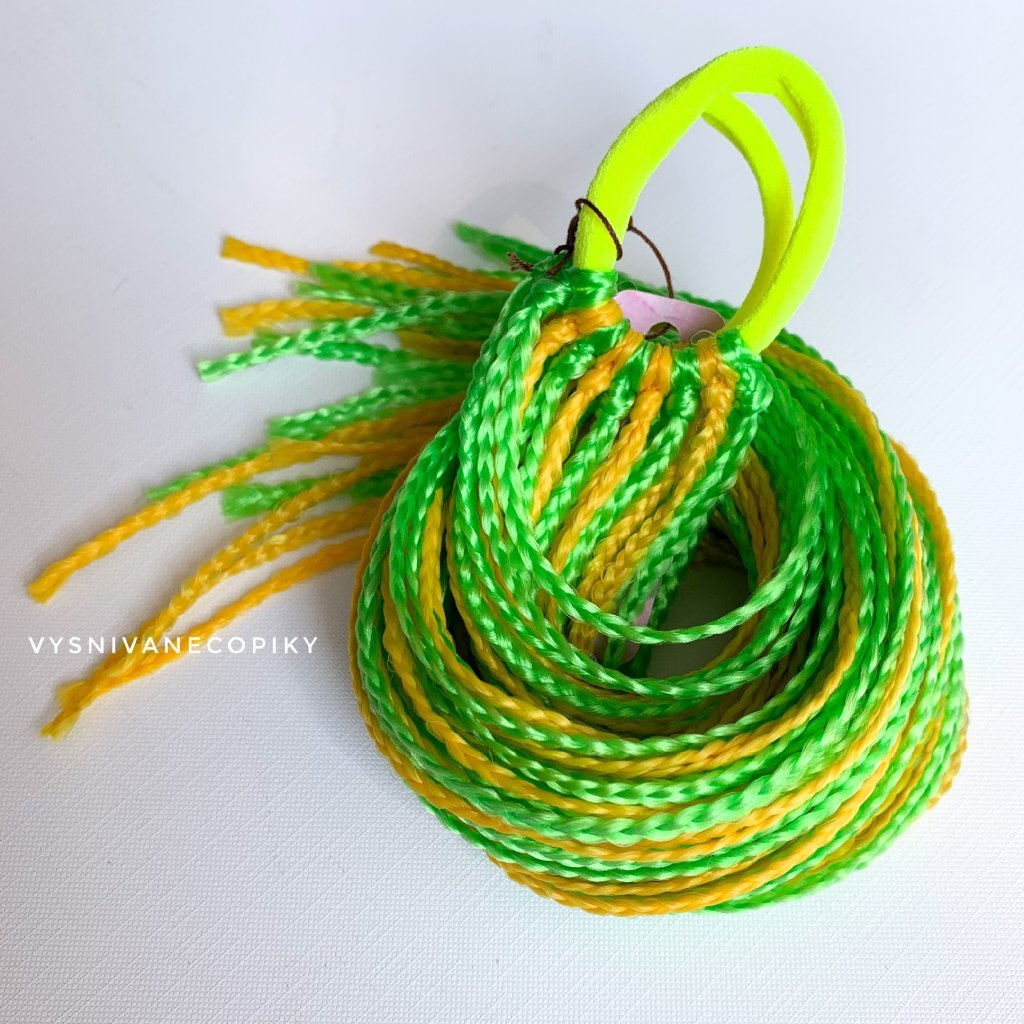 Detské zizi gumičky - zeleno/žltá - Yellow/Green