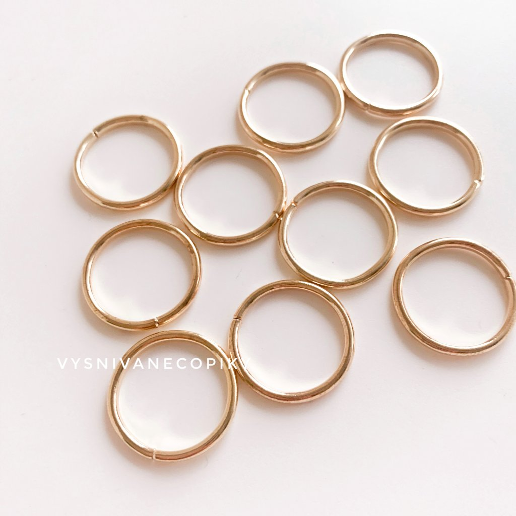 Krúžky zlaté - 16mm - 10ks
