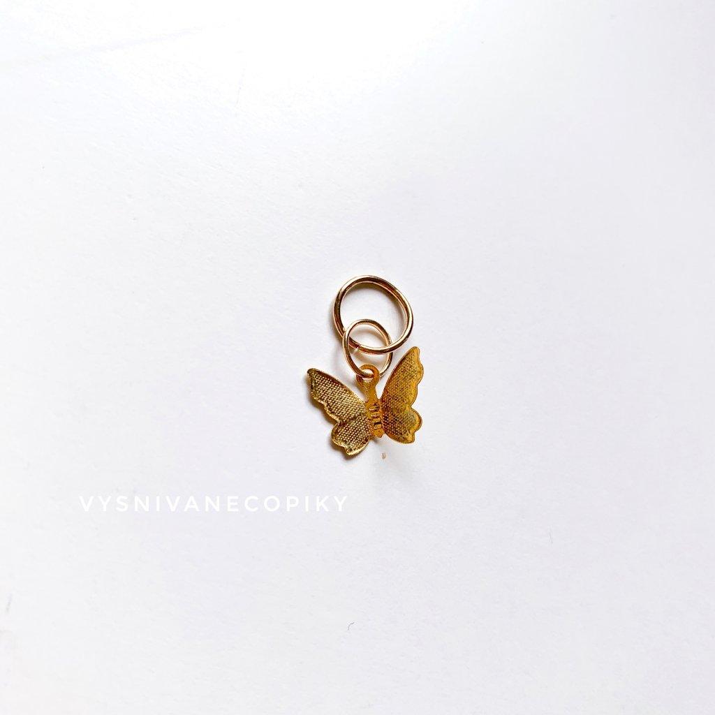 Motýľ zlatý - 19 mm - 1ks
