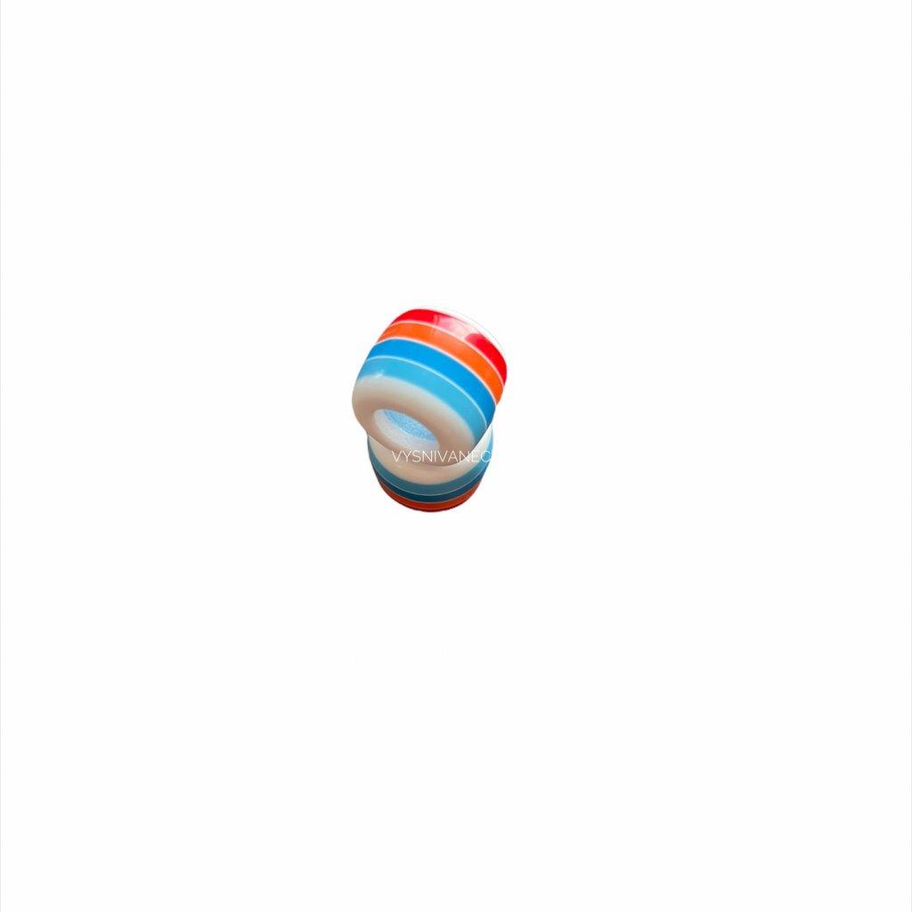 Korálka modro/biela - 11mm