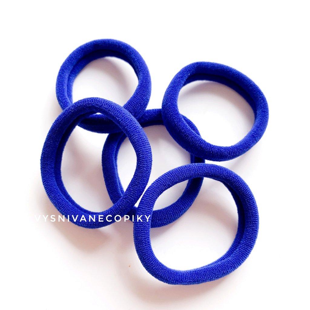 Gumičky do vlasov - modré
