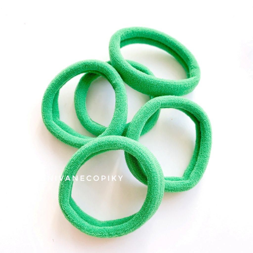 Gumičky do vlasov - zelené