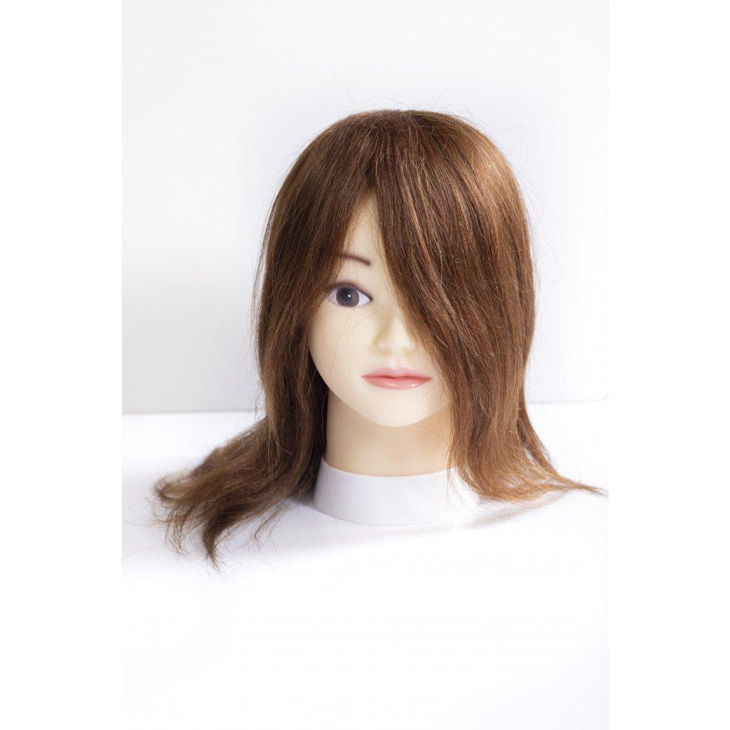 Cvičná česacia hlava - HNEDÁ 35 cm