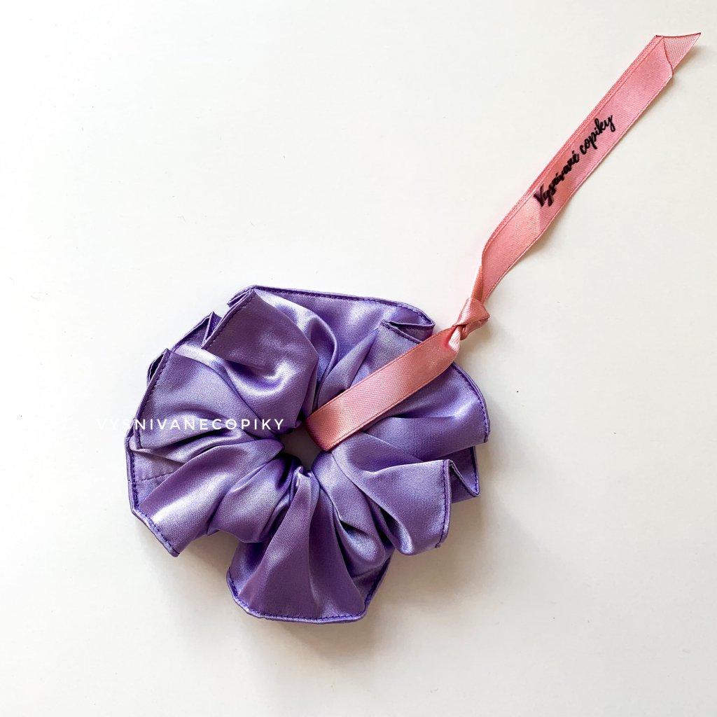fialová scrunchies