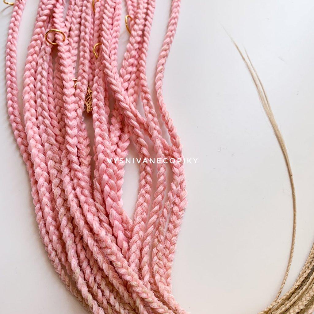 Pár copíkových gumičiek - L-pink/Blond